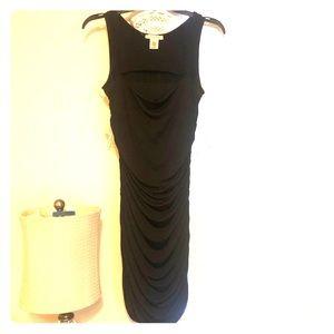 Black tight cut out dress